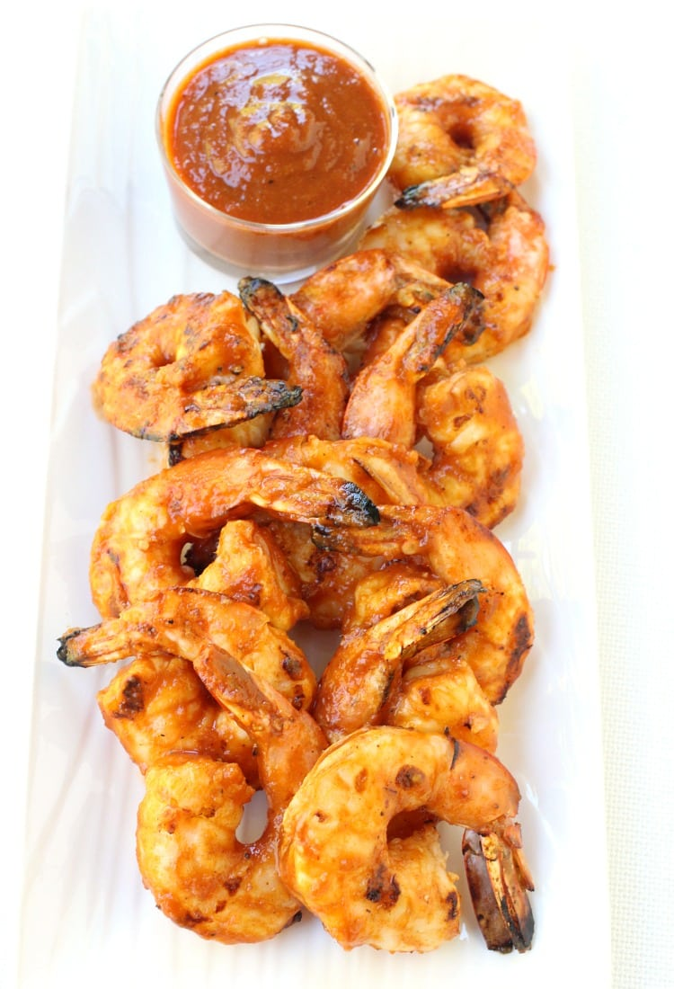 grilled-shrimp-mango-bbq-sauce-top-sauce-photo