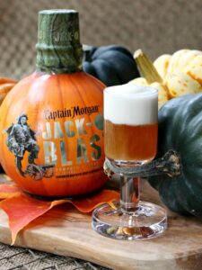 Jack-O Blast Pumpkin Rum Shooters | Halloween Drink Recipe