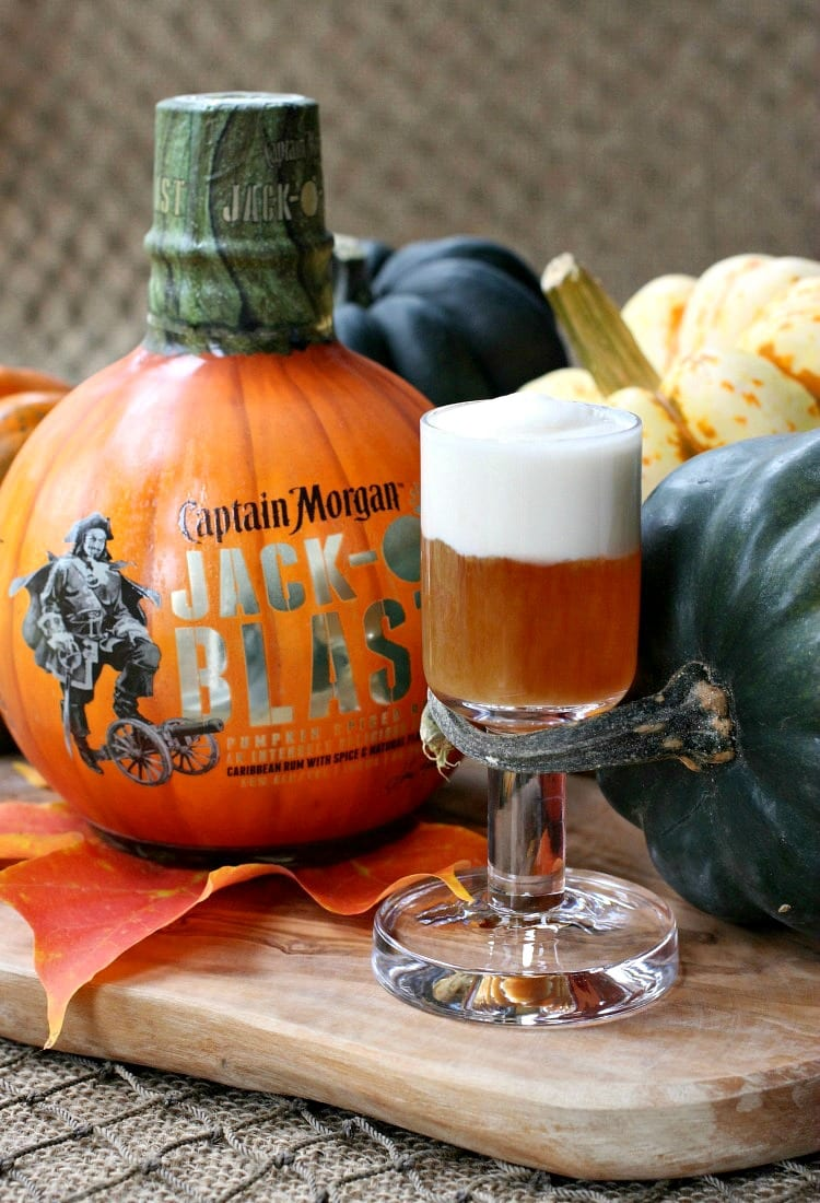 jack o blast pumpkin rum shooters will get your halloween party going