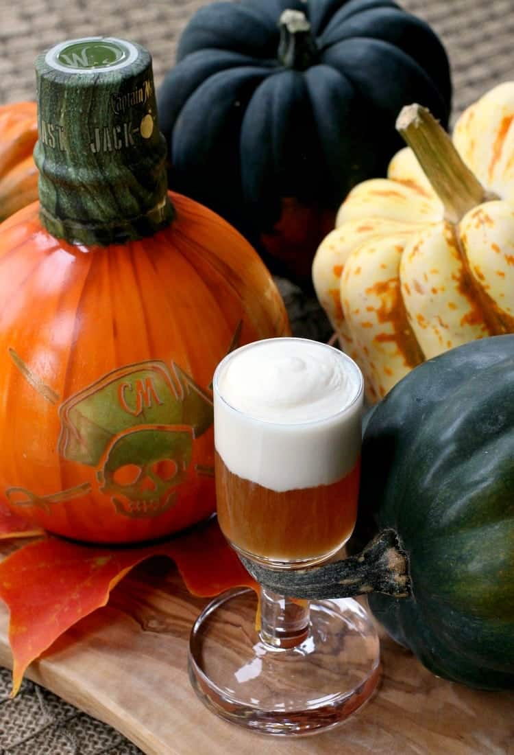 Jack-O-Blast Pumpkin Rum Shooters are the perfect Fall shot!