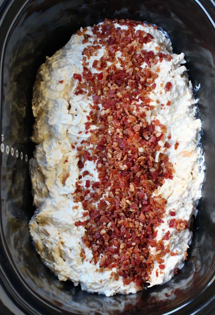 Slow Cooker Creamy Bacon Chicken in crock pot