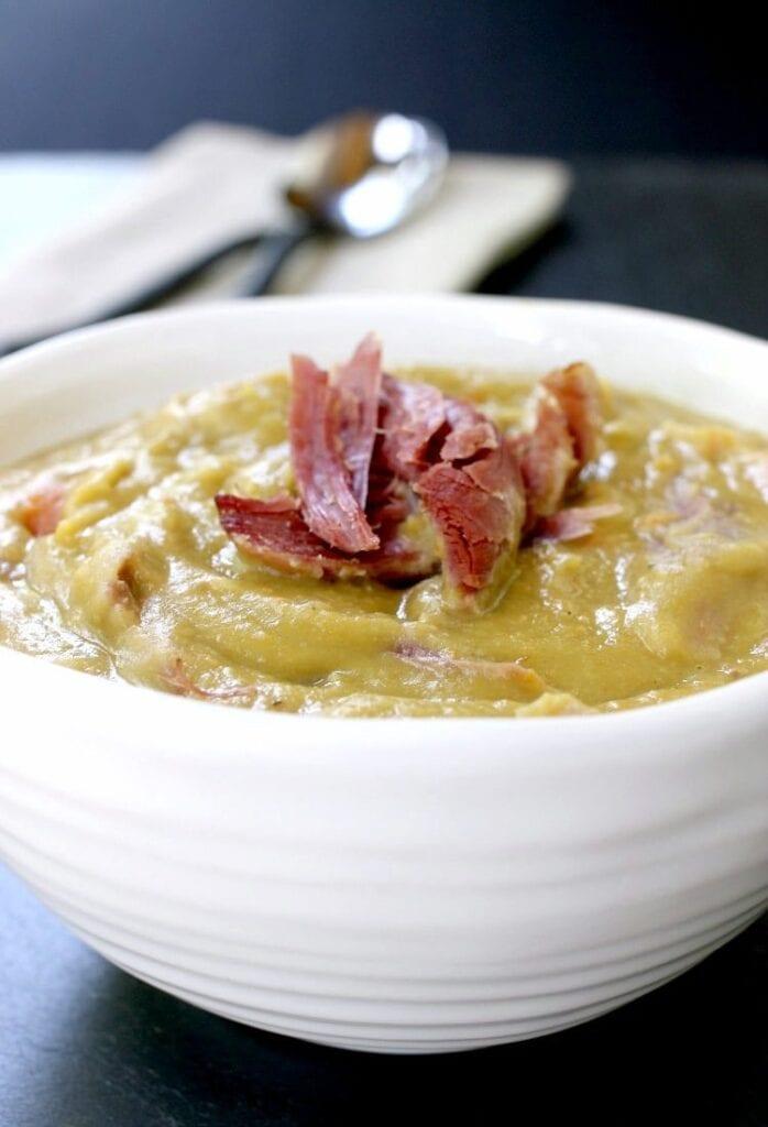 Turkey Leg Split Pea Soup is ready when you come home!