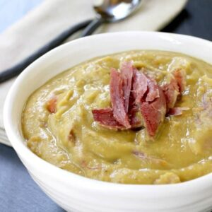 Turkey Leg Split Pea Soup is one of our favorite slow cooker dinners!