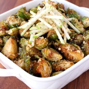 Fried Whiskey Glazed Brussels Sprouts