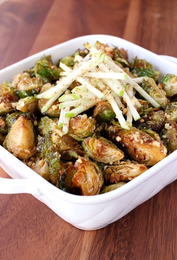 Fried Whiskey Glazed Brussels Sprouts are crispy, and coated with my famous whiskey glaze!
