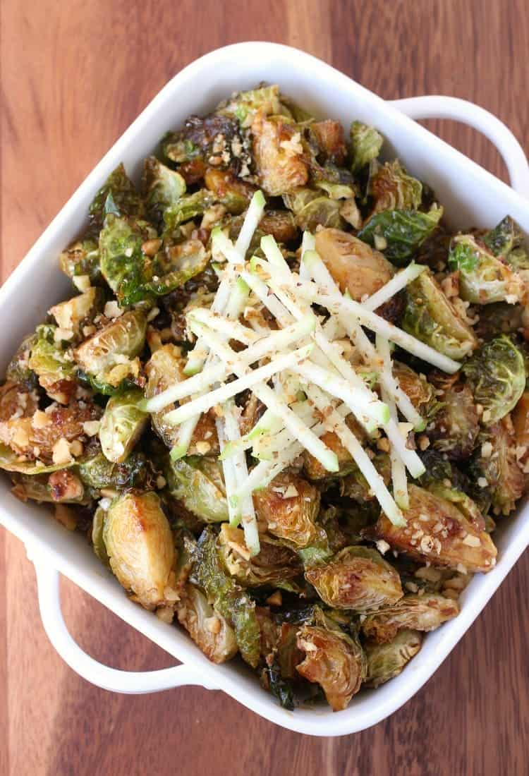 Fried Whiskey Glazed Brussels Sprouts for your Thanksgiving dinner!