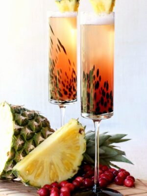 Easy Tropical Island Champagne Cocktail
