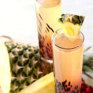 Island Champagne Cocktail is perfect for bringing yourself to a warm beach vacation!
