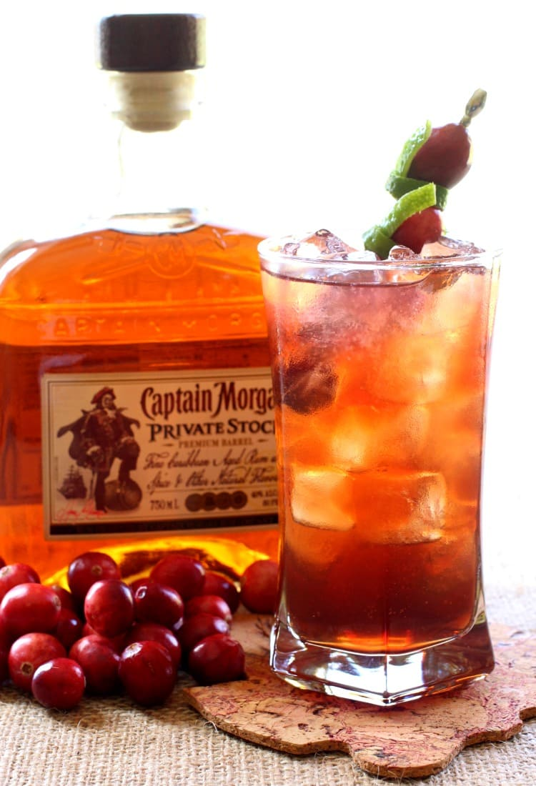 This Rum Harvest Cocktail is like a rum and coke, but better!