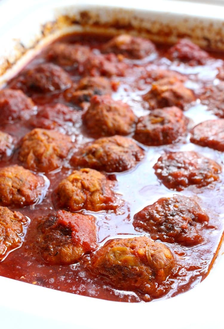 Slow Cooker Cabbage Roll Meatballs simmer all day in the most amazing sauce!