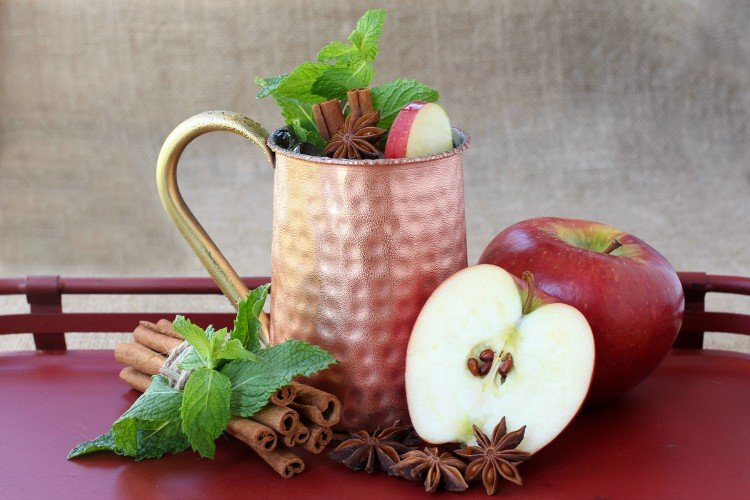 This Apple Cider Mojito has rum, brandy and all the flavors of the classic drink!