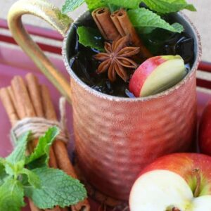 The garnishes in this Apple Cider Mojito are what makes this drink!