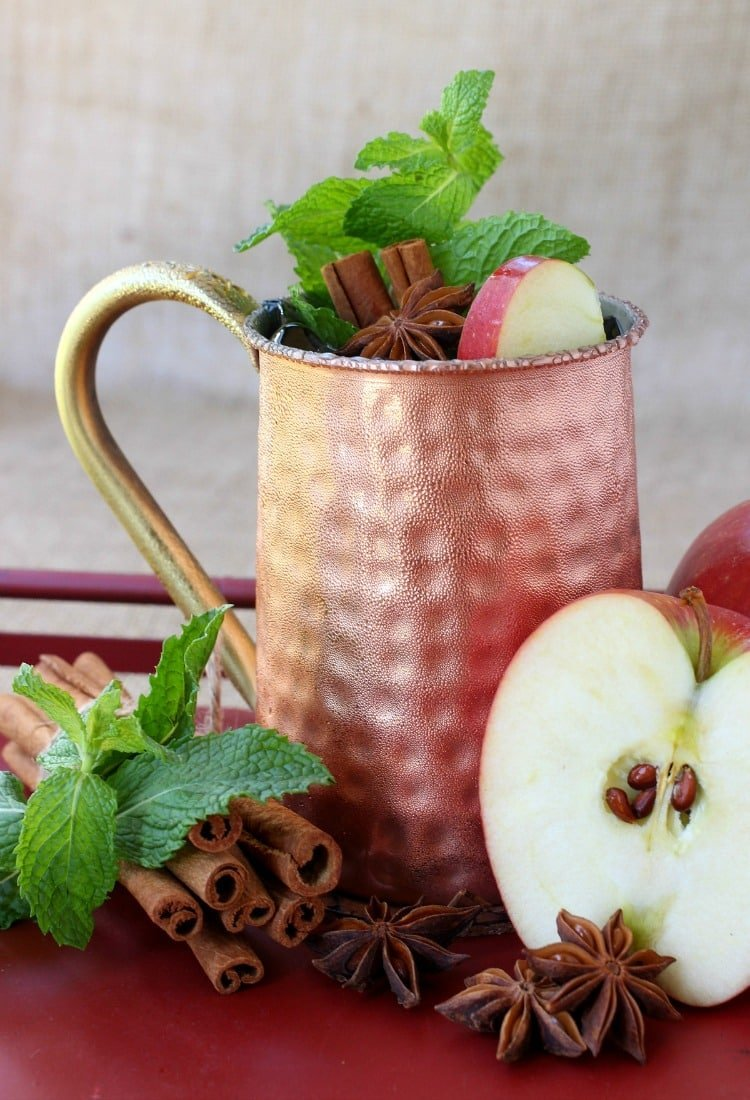 This Apple Cider Mojito is like a sip of Fall in a glass that you can enjoy all season!