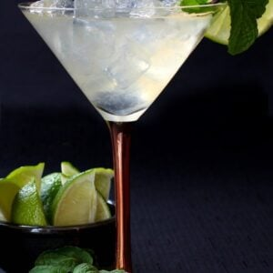 this Moscow Mule Martini has the perfect balance of tart and sweet!