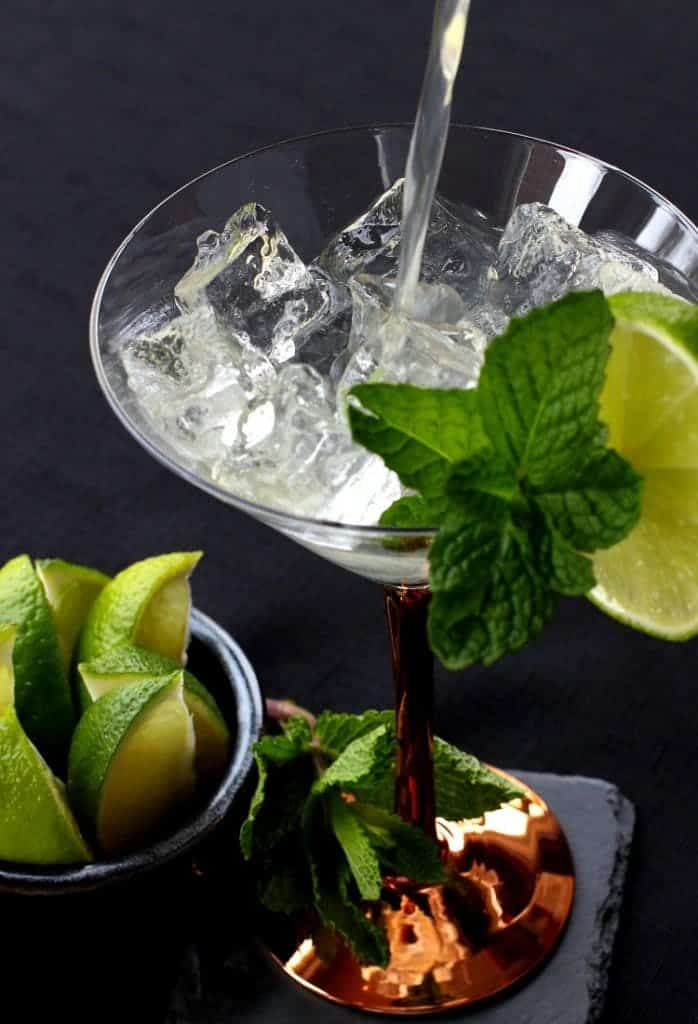 Make a few of these Moscow Mule Martinis to kick up happy hour!