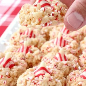 Rice Krispie Peppermint Blossoms might become your new favorite Christmas cookie!