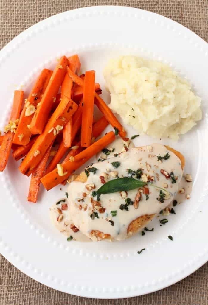 Seared Chicken and Sage Gravy from Blue Apron, fresh food delivered to your house!