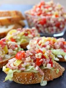 Make Italian Sub Bruschetta for appetizers or even a fun dinner!