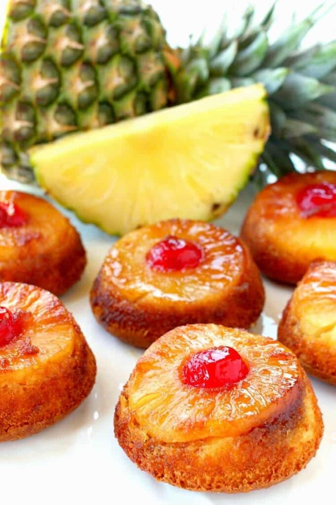 Pineapple Whiskey Upside Down Cakes are a boozy version on the classic dessert!