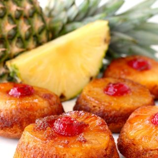 Pineapple Whiskey Upside Down Cakes