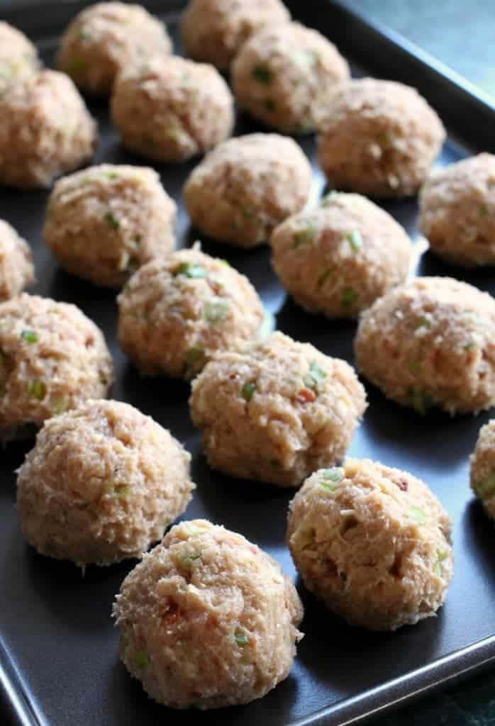 Stuffed Cheese Doodle Meatballs