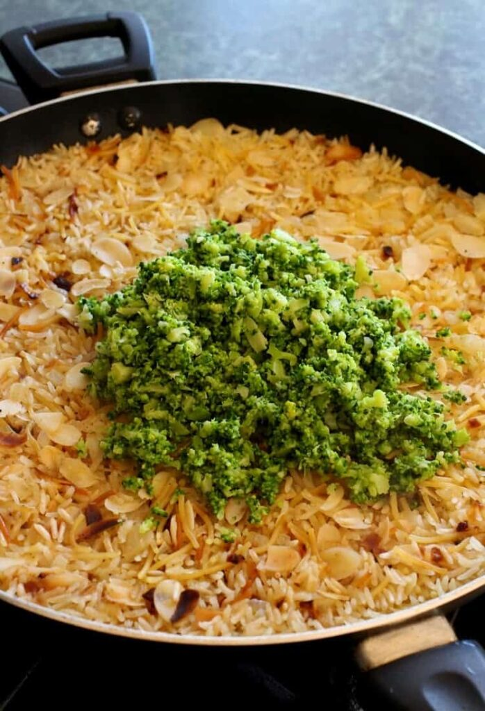 Barber Foods Stuffed Chicken and Broccoli Rice Pilaf is loaded with tons of fresh broccoli!