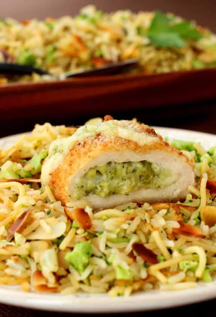 Barber Foods Stuffed Chicken and Broccoli Rice Pilaf hits the dinner table in no time!