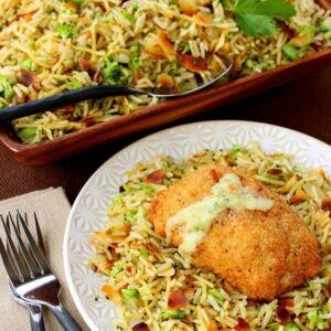 Barber Foods Stuffed Chicken and Broccoli Rice Pilaf