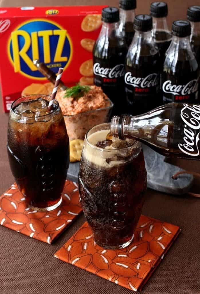 Easy Salmon Cracker Spread and Coke Zero are perfect party food!