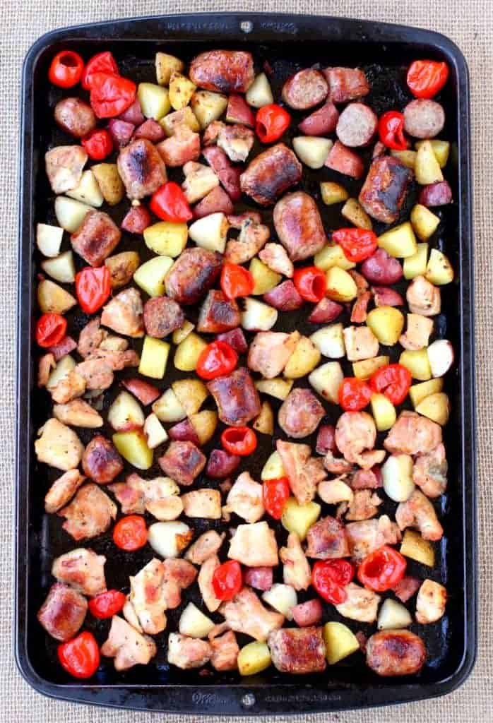 Sheet Pan Chicken Murphy is a whole dinner on one pan!