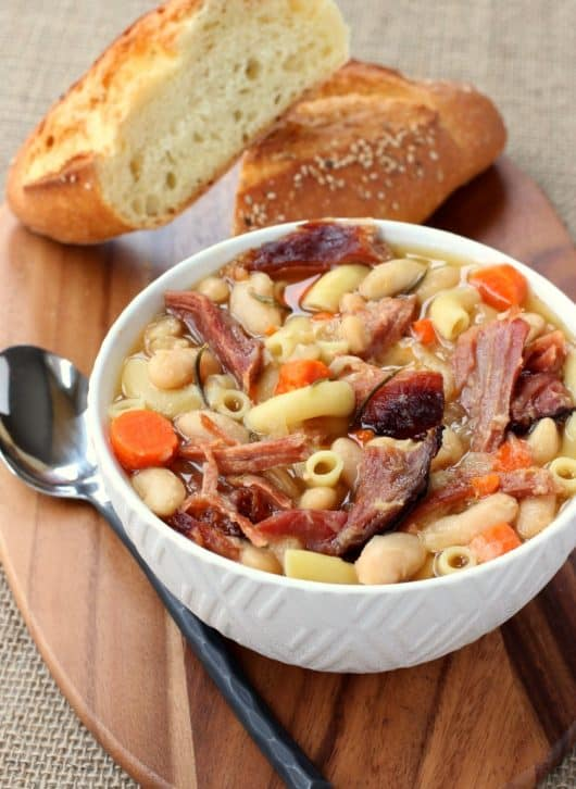 Slow Cooker Pasta Fagioli is one of my favorite comfort food dinners!