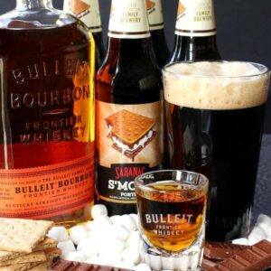 This S'more Porter Boilermaker is my twist on a classic cocktail!