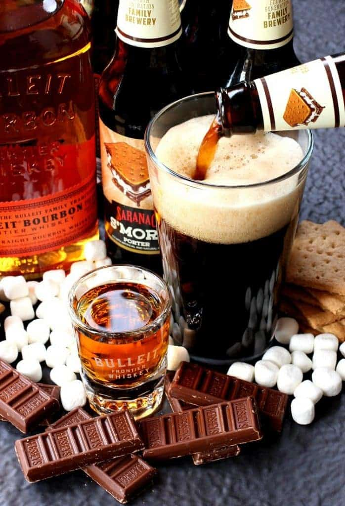 Make this S'more Porter Boilermaker to get the party started!