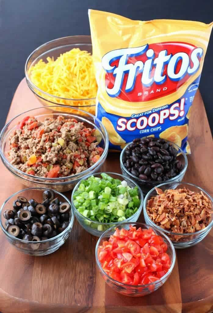 Trashcan Frito Nachos have all the toppings in every bite!