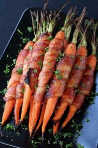 Bacon Wrapped Maple Glazed Carrots