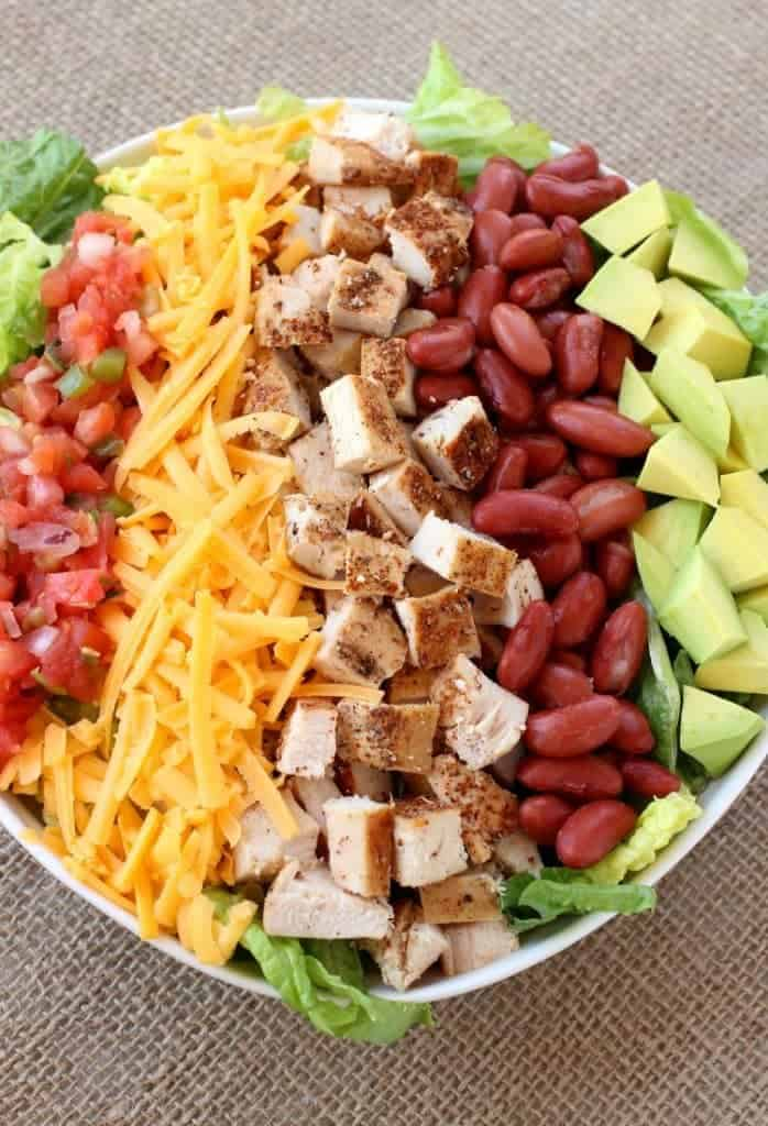 Chopped Chicken Taco Salad is a big hit for dinner at our house!