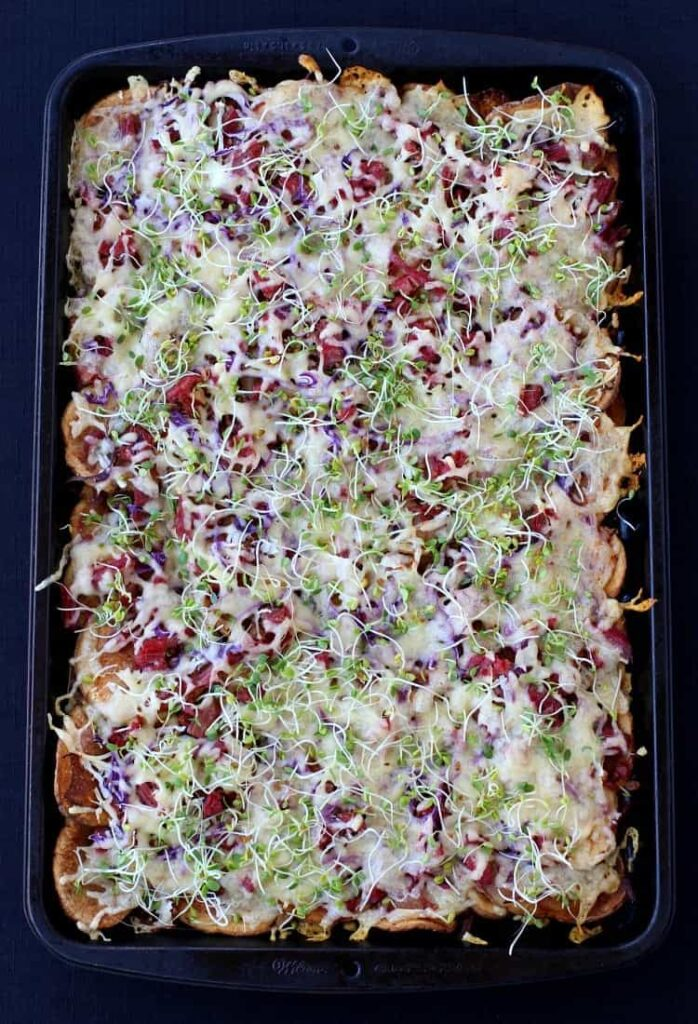 Corned Beef Irish Nachos are perfect for appetizers or dinner!