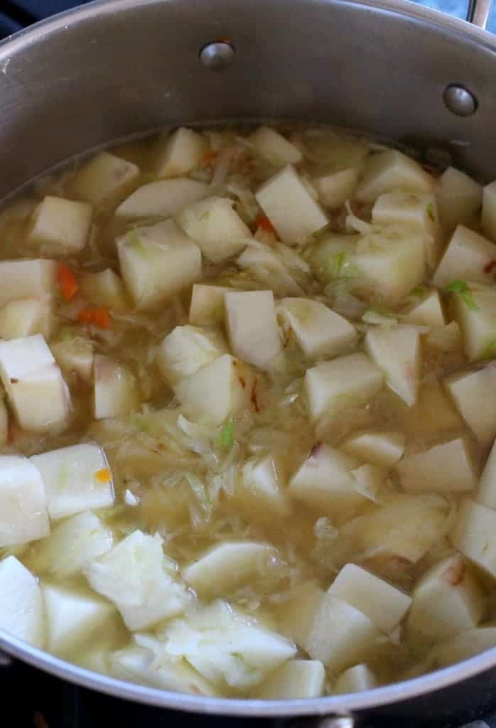 Creamy Corned Beef and Potato Chowder is a soup recipe that has potatoes and corned beef