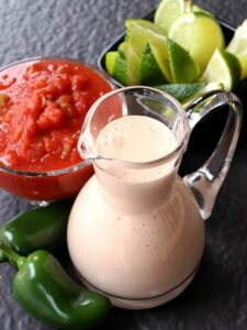 This Easy Creamy Salsa Dressing is perfect for salads, dips and even tacos!