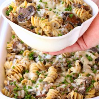 Slow Cooker Cheesy Beef Stroganoff