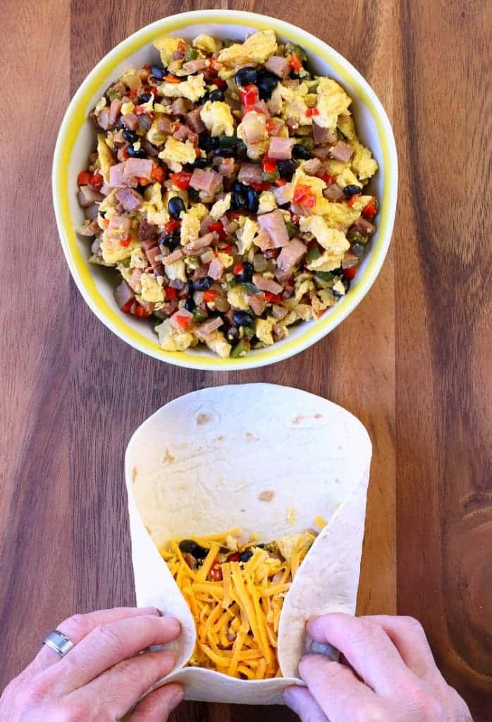 Roll up these Southwestern Breakfast Burritos for an easy morning meal!