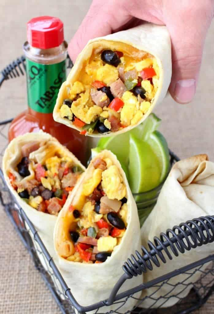 Southwestern Breakfast Burritos are one of my kids favorite breakfasts!