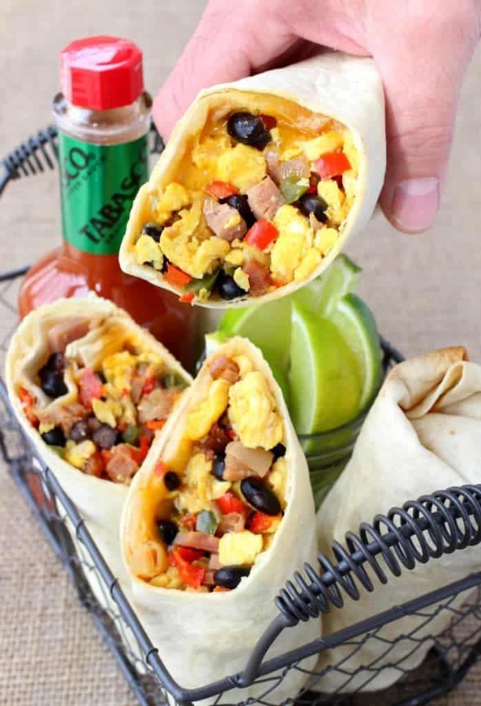 Southwestern Breakfast Burritos are one of my kids favorite breakfasts!