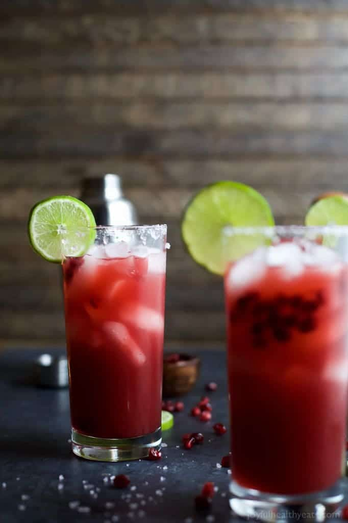 Cinco de Mayo Tequila Cocktails - Pomegranate Margarita Recipe