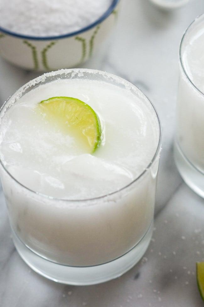 Cinco de Mayo Tequila Cocktails - Skinny Coconut Margarita