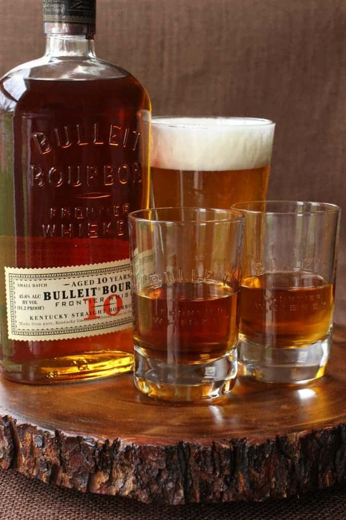 This Aged Frontier Farmhouse Boilermaker is the perfect combination for aged bourbon!
