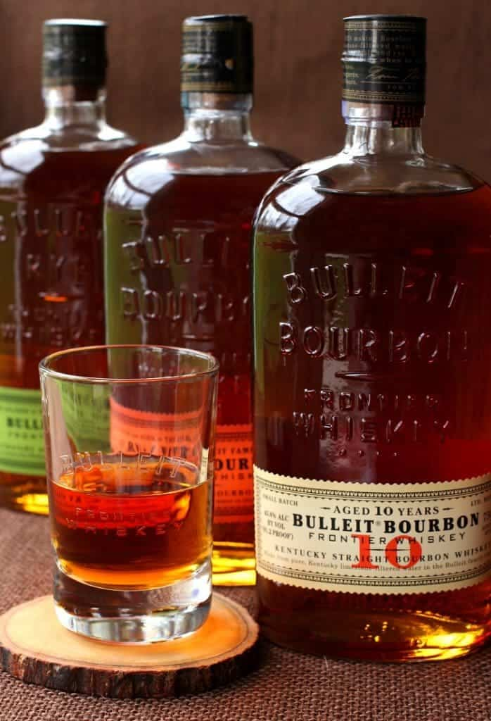 Aged Frontier Farmhouse Boilermakers with Bulleit Bourbon