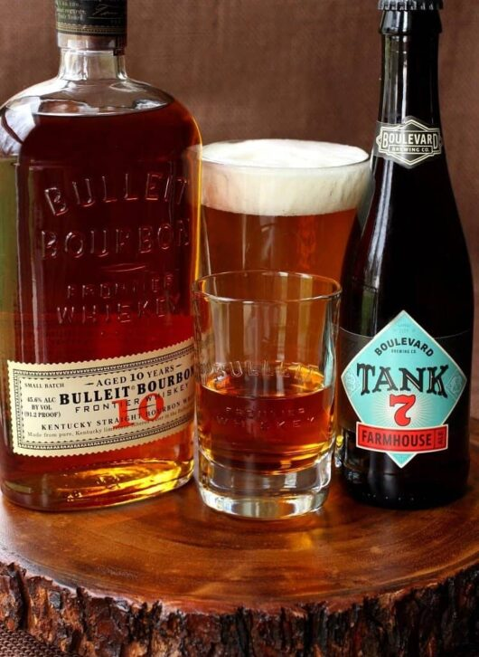 Aged Frontier Farmhouse Boilermaker is perfect for cocktail hour!