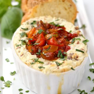 Baked Ricotta with Sausage and Tomato Jam