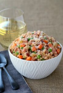 Low Carb Cauliflower Rice Ham Risotto
